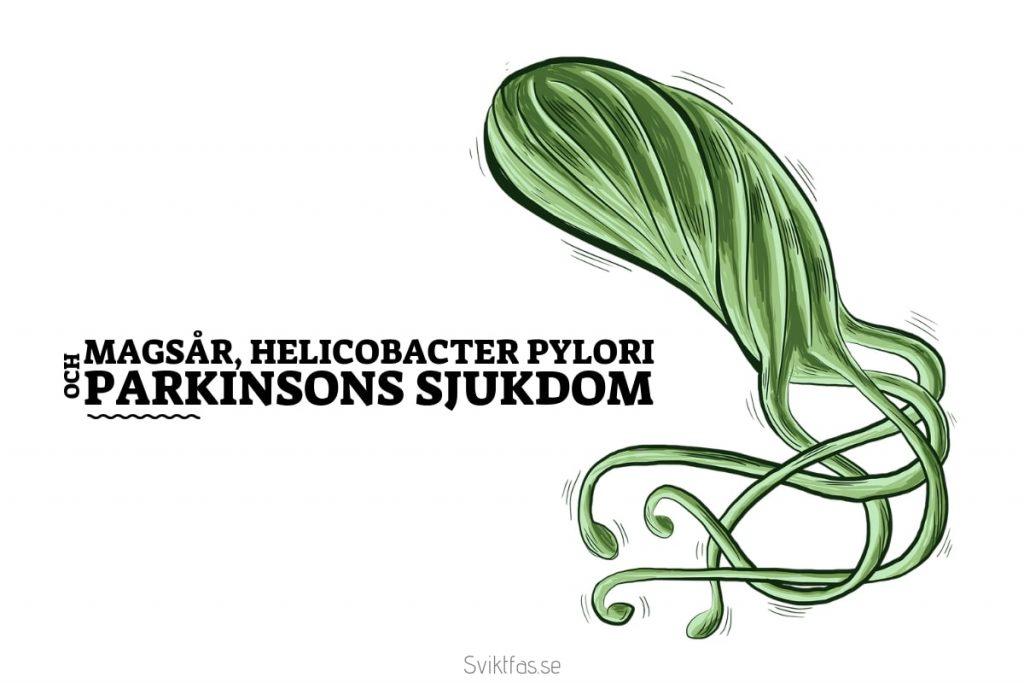 Magsår, helicobacter pylori och Parkinsons sjukdom